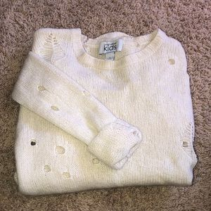 Cashmere cut out KIDS sweater